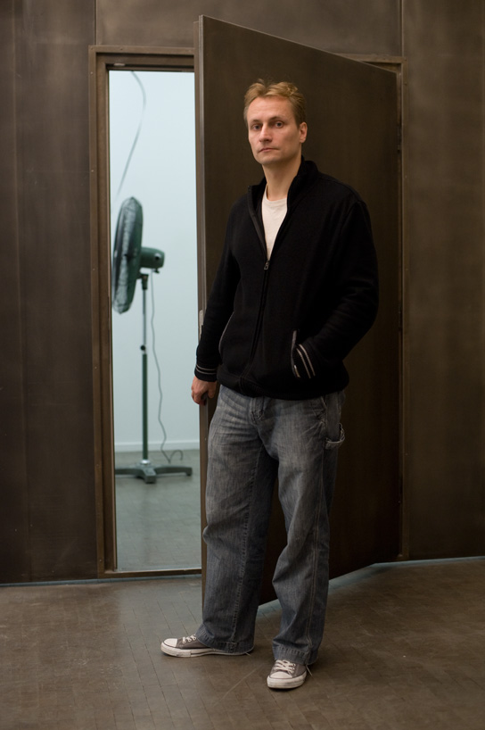 zilvinas before the opening of his exhibition at the kunsthalle wien